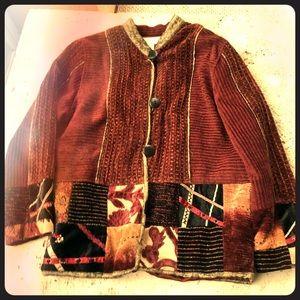 Vintage Style Patchwork Quilt Jacket Coat BOHO